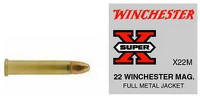 Winchester Rimfire Ammo Super-X .22 Magnum (WMR) 40 Grain FMJ 50 Rounds [X22M]