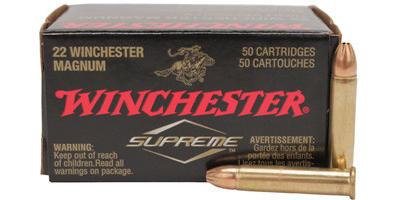 Winchester Rimfire Ammo Supreme .22 Magnum (WMR) 30 Grain JHP 50 Rounds [S22M2]
