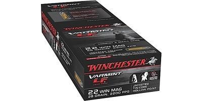 Winchester Rimfire Ammo LF .22 Magnum (WMR) 28 Grain JHP 50 Rounds [X22MHLF]