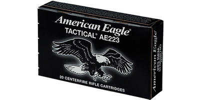 Federal Ammo American Eagle 223 Rem (5.56 NATO) FMJ BT 55 Grain 20 Rounds [AE223J]
