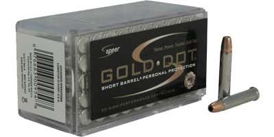 Speer Rimfire Ammo .22 Magnum (WMR) 40 Grain Gold Dot HP 50 Rounds [954]