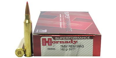 Hornady Ammo Super Shock Tip 7mm Magnum SST 162 Grain [80633