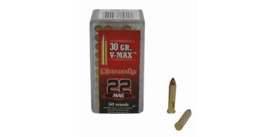 Hornady Rimfire Ammo .22 Magnum (WMR) V-Max 30 Grain 50 Rounds [83202]