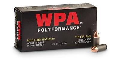 wolf ammo 9mm fmj 115 grain 919fmj ammo freedom
