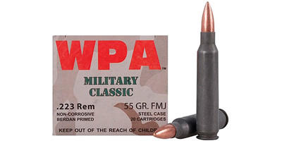 Wolf Ammo Military Classic 223 Remington FMJ 55 Grain 500 Rounds [MC22355FMJ]