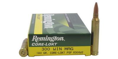 remington ammo core lokt 300 win mag psp 180 grain r300w2 ammo