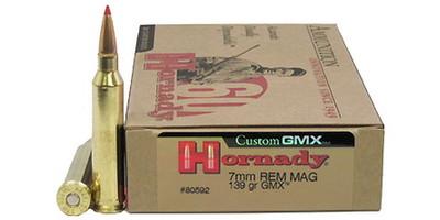 hornady ammo gmx 7mm magnum gmx 139 grain 80592 ammo freedom